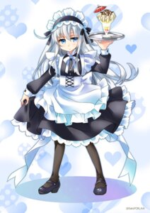 Rating: Safe Score: 16 Tags: heels hibiki_(kancolle) kantai_collection maid sato-pon User: Mr_GT