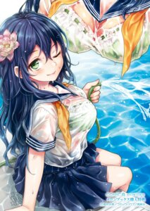 Rating: Questionable Score: 53 Tags: bra kikuduki_tarou see_through seifuku wet wet_clothes User: saemonnokami