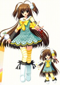 Rating: Safe Score: 20 Tags: chibi dress nishimata_aoi thighhighs User: fireattack