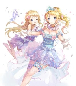Rating: Safe Score: 68 Tags: 77gl ayase_arisa ayase_eli cleavage dress garter heels love_live! User: Mr_GT