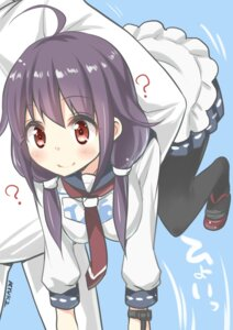 Rating: Safe Score: 75 Tags: kantai_collection pantyhose ryuki_(pixiv_2328) seifuku taigei_(kancolle) User: WtfCakes