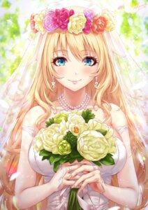 Rating: Safe Score: 40 Tags: atago_(kancolle) dress kantai_collection sakiyamama wedding_dress User: BattlequeenYume