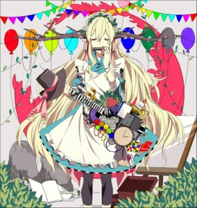 Rating: Safe Score: 23 Tags: dress guitar horns kagerou_project kozakura_mary maid mekakucity_actors sinomi User: sylver650
