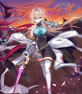 Rating: Safe Score: 41 Tags: armor blood dress garter shadowverse sword tagme thighhighs User: BattlequeenYume