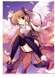 Rating: Questionable Score: 41 Tags: mitha pantsu stockings thighhighs wings User: YamatoBomber