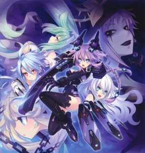 Rating: Safe Score: 40 Tags: black_heart bodysuit choujigen_game_neptune green_heart histoire magiquone purple_heart sword tsunako weapon white_heart User: Radioactive