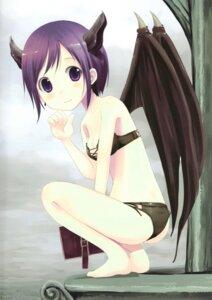 Rating: Questionable Score: 4 Tags: ass bra cleavage genkai_tokki_monster_monpiece horns loli pantsu tagme wings User: Radioactive
