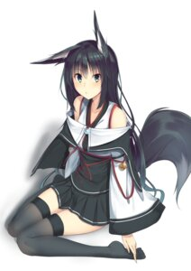 Rating: Safe Score: 44 Tags: animal_ears karakura kitsune tail thighhighs User: Sunimo