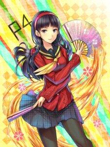 Rating: Safe Score: 37 Tags: amagi_yukiko hourainingyou megaten pantyhose persona persona_4 seifuku User: SubaruSumeragi