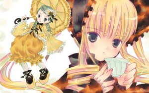 Rating: Safe Score: 12 Tags: dress kanaria lolita_fashion peach-pit rozen_maiden shinku wallpaper User: Radioactive