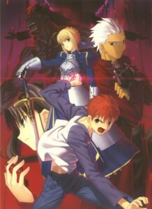 Rating: Safe Score: 5 Tags: archer armor berserker emiya_shirou fate/stay_night saber sword takeuchi_takashi toosaka_rin type-moon User: Radioactive