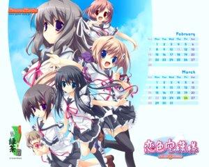 Rating: Safe Score: 15 Tags: calendar hattori_aya itou_mikoto kanou_kayoko koiiro_soramoyou lucie seifuku shinohara_sera thighhighs utsumi_shizuna wallpaper User: Devard