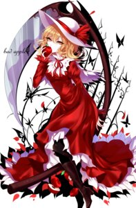 Rating: Safe Score: 24 Tags: dress elly heels pantyhose sheya touhou weapon User: charunetra