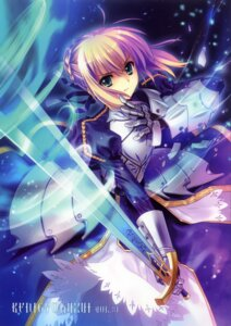 Rating: Safe Score: 110 Tags: armor carnelian fate/stay_night fate/zero saber sword User: fireattack