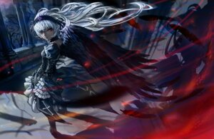 Rating: Safe Score: 35 Tags: cerberus dress gothic_lolita lolita_fashion rozen_maiden suigintou thighhighs wings User: demon2