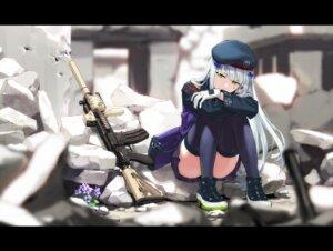 Rating: Questionable Score: 37 Tags: girls_frontline gun hk416_(girls_frontline) kinosuke thighhighs User: sym455