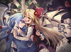 Rating: Safe Score: 9 Tags: flandre_scarlet remilia_scarlet tagme touhou wings yuri User: BattlequeenYume