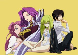 Rating: Safe Score: 20 Tags: c.c. chiba_yuriko cleavage code_geass cornelia_li_britannia euphemia_li_britannia lelouch_lamperouge swimsuits tabata_hisayuki uniform User: posie