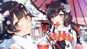 Rating: Safe Score: 28 Tags: animal_ears atago_(azur_lane) azur_lane ji_yue kimono takao_(azur_lane) umbrella User: Mr_GT