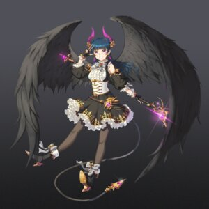 Rating: Safe Score: 17 Tags: corset_(artist) heels horns love_live!_sunshine!! pantyhose tail tsushima_yoshiko weapon wings User: saemonnokami