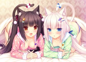 Rating: Questionable Score: 153 Tags: animal_ears chocola cleavage neko_works nekomimi nekopara no_bra open_shirt pajama pantsu sayori shimapan tail vanilla User: RyuZU