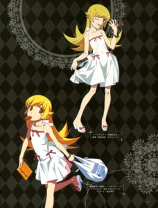 Rating: Safe Score: 46 Tags: bakemonogatari dress oshino_shinobu sugiyama_nobuhiro summer_dress watanabe_akio User: drop