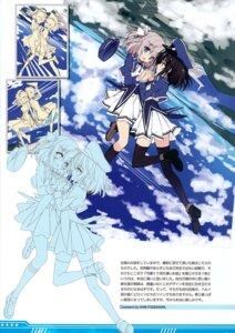Rating: Safe Score: 13 Tags: aoi_kurusu hayakawa_harui heels hyuga_tsubame sketch thighhighs uniform valkyrie_impulse User: Hatsukoi