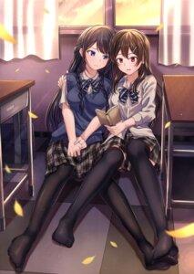 Rating: Safe Score: 39 Tags: black_rabbit feet pantyhose seifuku sweater thighhighs yuri User: Mr_GT