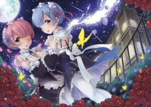 Rating: Safe Score: 37 Tags: cleavage hyouta_(nekogamirin_c) maid pantyhose ram_(re_zero) re_zero_kara_hajimeru_isekai_seikatsu rem_(re_zero) User: Mr_GT