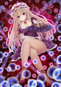 Rating: Questionable Score: 16 Tags: cleavage dress heels skirt_lift suigetsu_(watermoon-910) touhou yakumo_yukari User: Arsy