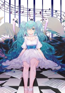 Rating: Safe Score: 24 Tags: bandages dress eyepatch hatsune_miku tagme vocaloid User: Mr_GT