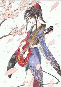 Rating: Safe Score: 3 Tags: aria_(pixiv_1729581) guitar kimono User: charunetra