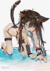Rating: Questionable Score: 26 Tags: animal_ears bikini garter kentllaall nekomimi swimsuits tail tattoo topless wet User: YoroizukaMizore