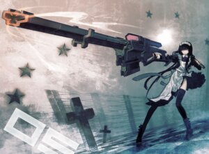 Rating: Safe Score: 14 Tags: black_rock_shooter gun huke maid maid_gunner thighhighs vocaloid User: Radioactive
