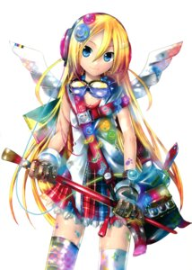 Rating: Safe Score: 58 Tags: kei lily_(vocaloid) thighhighs vocaloid wings User: Radioactive