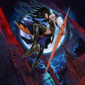 Rating: Safe Score: 30 Tags: castlevania castlevania:_order_of_ecclesia dress hirooka_masaki konami shanoa thighhighs weapon User: Radioactive