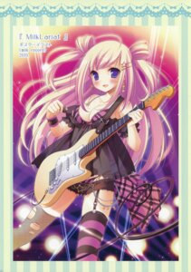 Rating: Questionable Score: 43 Tags: an_an_wanco bra cleavage fishnets guitar inugahora_an pantsu see_through stockings thighhighs torn_clothes User: fireattack