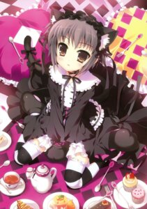 Rating: Questionable Score: 35 Tags: animal_ears fujima_takuya gothic_lolita lolita_fashion nagato_yuki nekomimi suzumiya_haruhi_no_yuuutsu tail User: crim