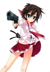Rating: Safe Score: 25 Tags: gun hidan_no_aria kobuichi l_watson seifuku User: Anonymous