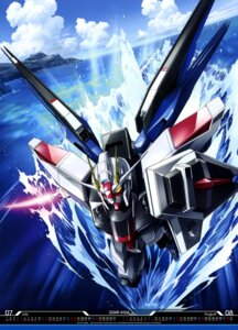 Rating: Safe Score: 20 Tags: freedom_gundam gun gundam gundam_seed mecha sword ueda_youichi weapon wings User: drop