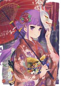 Rating: Safe Score: 37 Tags: aikatsu! hikami_sumire kimono tetsujin_momoko umbrella yukata User: nphuongsun93