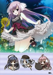 Rating: Safe Score: 24 Tags: chibi dress himawari_no_kyoukai_to_nagai_natsuyasumi inugami_kira natsusaki_yomi skirt_lift User: Hatsukoi