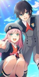 Rating: Safe Score: 25 Tags: darling_in_the_franxx hiro_(darling_in_the_franxx) mizu_no uniform zero_two_(darling_in_the_franxx) User: 김도엽
