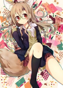 Rating: Safe Score: 46 Tags: animal_ears kitsune megane near-dog sasahara_wakaba tail User: KazukiNanako