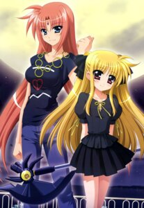 Rating: Safe Score: 35 Tags: arf fate_testarossa higa_yukari mahou_shoujo_lyrical_nanoha weapon User: drop