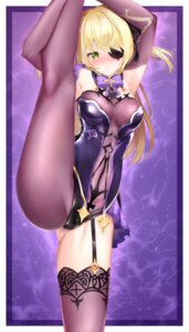 Rating: Questionable Score: 28 Tags: benedia cameltoe eyepatch fischl_(genshin_impact) fishnets genshin_impact leotard stockings thighhighs User: Mr_GT