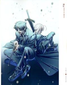 Rating: Safe Score: 17 Tags: emiya_kiritsugu fate/stay_night fate/zero gun hiroe_rei saber sword type-moon User: Aurelia