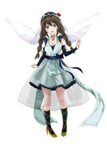 Rating: Safe Score: 14 Tags: cleavage dress fujisaki_ribbon heels see_through tagme wings User: Spidey