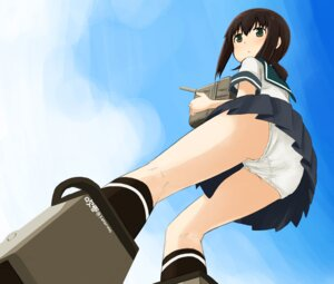 Rating: Questionable Score: 44 Tags: abe_kanari ass fubuki_(kancolle) kantai_collection pantsu seifuku User: 椎名深夏