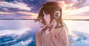 Rating: Safe Score: 42 Tags: headphones seifuku sweater tsukigami_luna User: Mr_GT